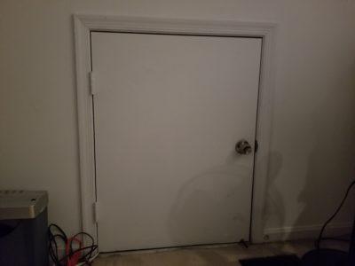 The half-sized door to my attic space.