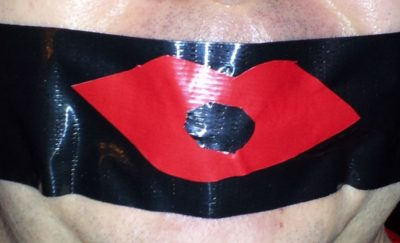 The duct tape lips!