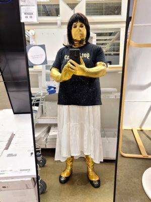 Jennifer takes a selfie at IKEA