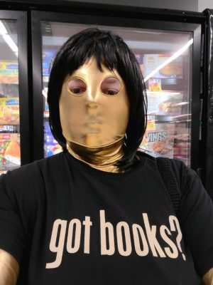 Jennifer takes a selfie at the grocery store