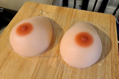 Jennifer's new silicone breasts
